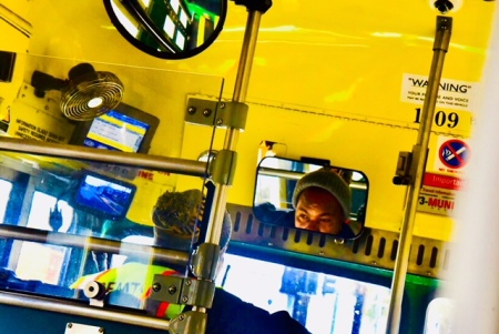 Bus Driver Reflected
