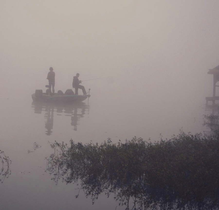 Early Fishing in the Fog