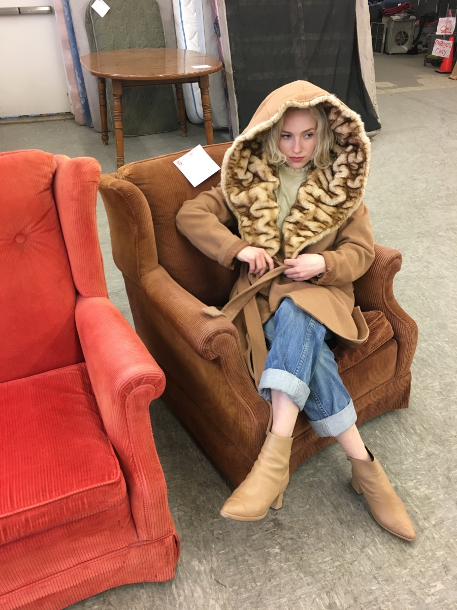 Blonde Fur Coat